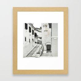 Old Italian city Framed Art Print