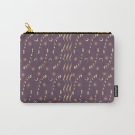 Antiqued Purple Musical Notes Honey Locust Print Carry-All Pouch
