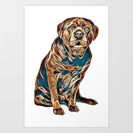 Cane corso dog in front of a white background        - Image Art Print