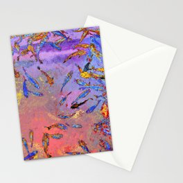 Fish In A Chinese Pond Stationery Cards