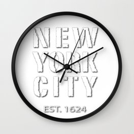 New York Styles in White Wall Clock