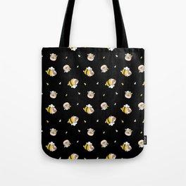 Pug Bee Pattern Tote Bag