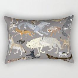 Wolves of the world (c) 2017 Rectangular Pillow