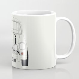 The Italian Job White Mini Cooper Coffee Mug