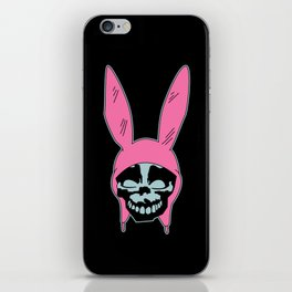 Grey Rabbit/Pink Ears iPhone Skin