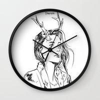 dancer Wall Clocks featuring Dancer by Cassandra Jean
