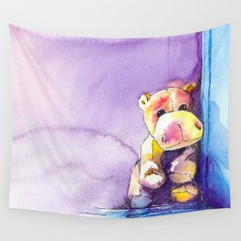 Plush Hippo Wall Tapestry