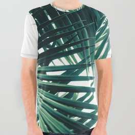 Palm Leaves Green Vibes #6 #tropical #decor #art #society6 All Over Graphic Tee