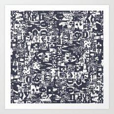 Typo Texture Art Print