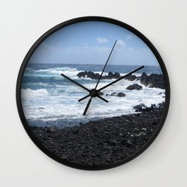 Black and Blue Earth Wall Clock