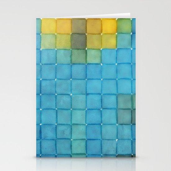 Polaroid Pixels I (Flower) Stationery Cards