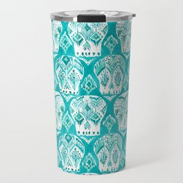 SKULLAGOG Aqua Watercolor Skulls Travel Mug