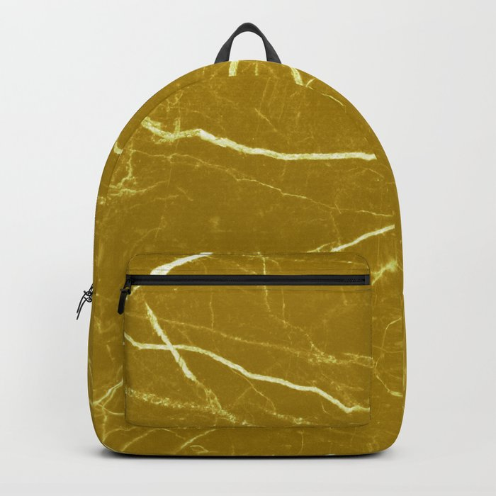 Gold marble abstract texture pattern Backpack