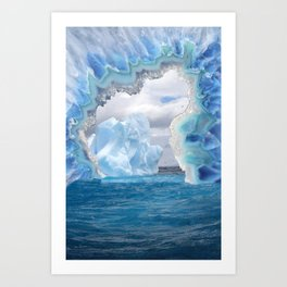 Glacier Slice Art Print