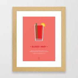 Bloody Mary Cocktail Recipe Art Print Framed Art Print