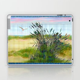 Plaid Beachscape with Seagrass Laptop & iPad Skin