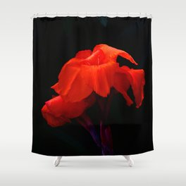 Orange Indian Reed Lily Flower Shower Curtain
