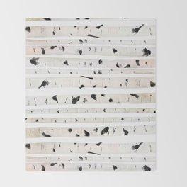 birch watercolor pattern 2018 Throw Blanket