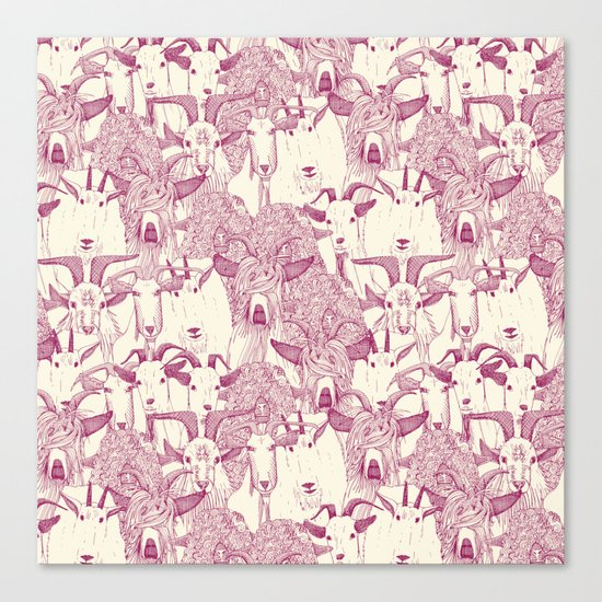 just goats cherry pearl Canvas Print