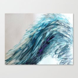 Once Upon An Angel Wing-blue Canvas Print