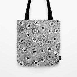 Ditsy Eyes (shades of gray) Tote Bag