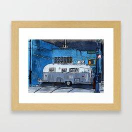 El Luchador Airstream Framed Art Print