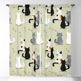 cats pattern Blackout Curtain