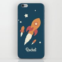 rocket iPhone & iPod Skins featuring Rocket by Jane Mathieu