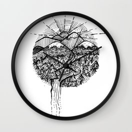 Utopian Hills Wall Clock