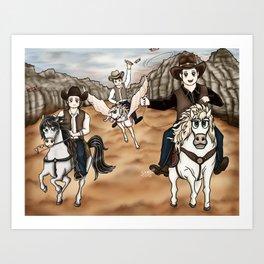 Cowboy Winchesters Art Print
