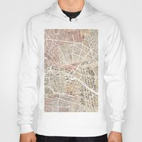 berlin Hoodies featuring Berlin by Mapsland