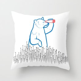 DA BEARS - SEARCHING Throw Pillow
