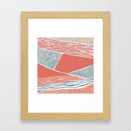 Modern irregular Stripes 04 Framed Art Print