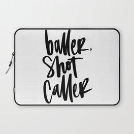 Baller, Shot Caller Hand Lettering Laptop Sleeve