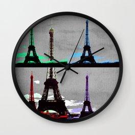 Paris, Eiffel Tower - Pop Art Wall Clock