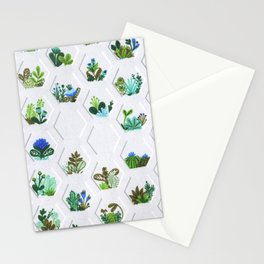 Hex Succulents Stationery Cards