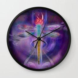 Dragonfly Effect (Purple) Wall Clock