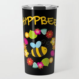 Hippie Bee Travel Mug