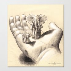 Pocket Elephants Canvas Print