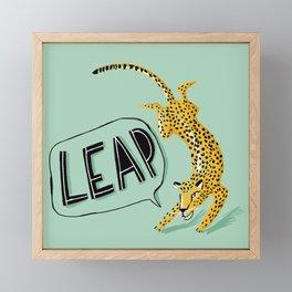 Leap Framed Mini Art Print