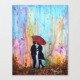 A Rainy Date romantic painting giftart Canvas Print