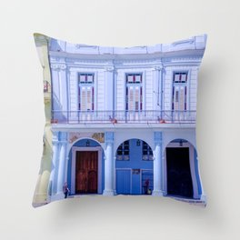 Colonial Building in Old Havana Cuba Throw Pillow