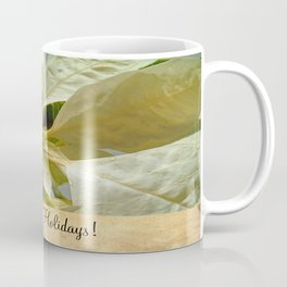 Pale Yellow Poinsettia 1 Happy Holidays S2F1 Coffee Mug