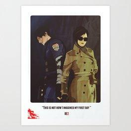 Leon A - Resident Evil 2 Art Print