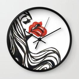 Bla blab la girl Wall Clock