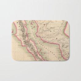 Vintage Map of Baja California (1827) Bath Mat