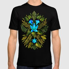 Tropical Symmetry – Turquoise & Olive Palette T-shirt