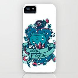 Witches Cauldron Hocus Pocus Blue iPhone Case