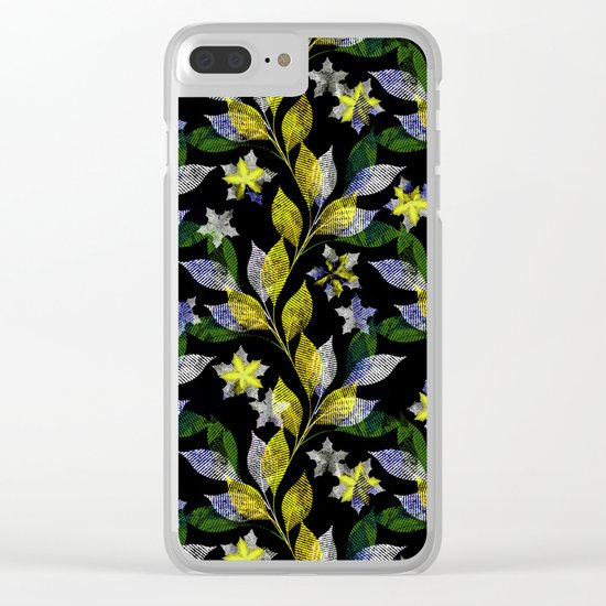 Floral pattern . Clear iPhone Case