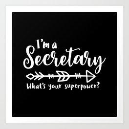 Secretary, School secretary, reception Art Print